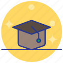 cap, degree, education, graduate icon