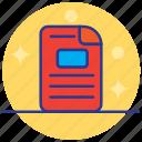 cv, document, exam, form, paper icon