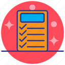 education, knowledge, learning, notes, study icon