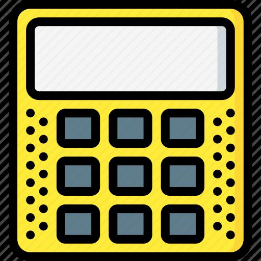 calculator, education, knowledge, learning, school, study icon