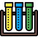 education, knowledge, learning, school, study, test, tubes icon