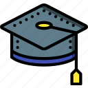 cap, education, graduation, knowledge, learning, school, study icon