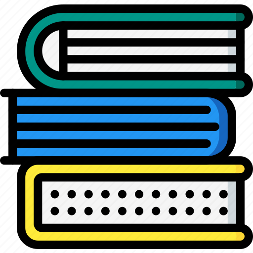 books, education, knowledge, learning, school, study, text icon
