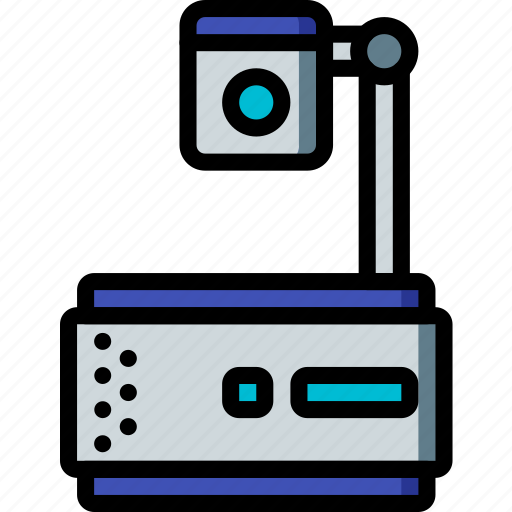 education, knowledge, learning, projector, school, study icon