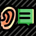 audio, ear, education, hear, listen, school, study