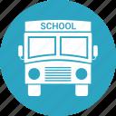 big vehicle, bus, school, vehicle icon