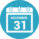 calendar, month, schedule, thirty first, time icon