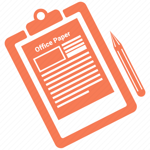 clipboard, note, office, paper, pencil icon