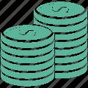cash, coin, finance, payment