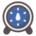 time, stopwatch, alarm, clock, scale, kg icon