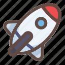 rocket, astronaut, ads, management, seo, marketing, education icon
