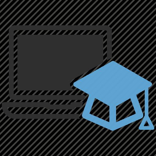 awards, diploma, education, laptop, online icon