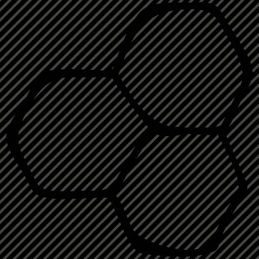 eco power cells, hexagon, hexagons, molecular hexagon icon