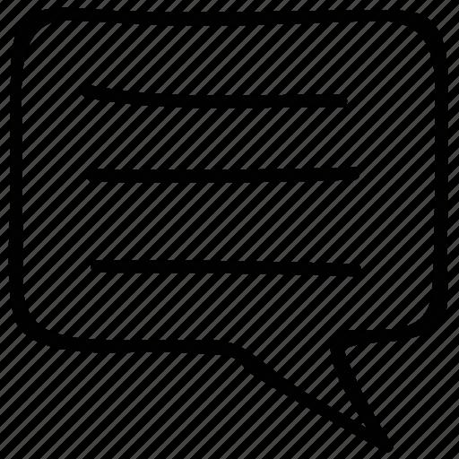 comment, comments, message, speech icon