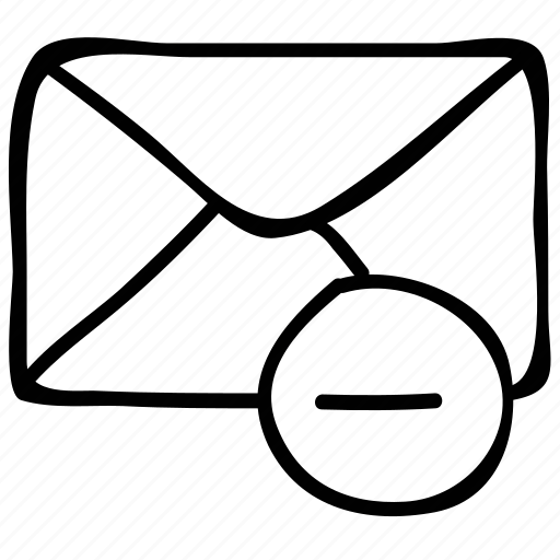 email, letter, mail, minus icon