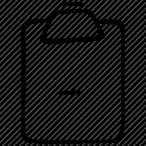 clipboard, exam, minus, remarks icon