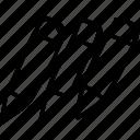 pastels, pencils, creative, draw icon
