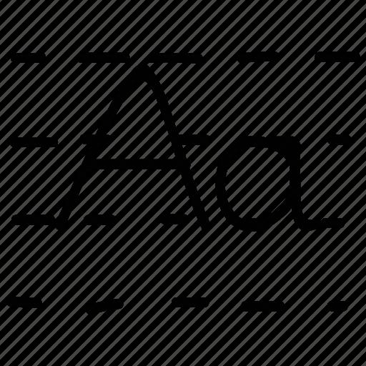 alphabets, kindergarden, write, writing icon