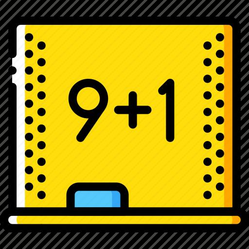 education, knowledge, learning, mathmatics, school, study icon