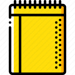 education, knowledge, learning, note, pad, school, study icon
