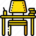 desk, education, knowledge, learning, school, study icon