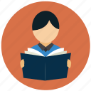 learn, reading, student, study icon