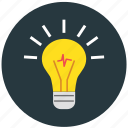 bulb, idea, knowledge, light, thinking icon