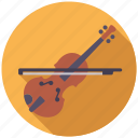 college, education, instrument, music, school, violin icon