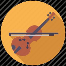 college, education, instrument, music, school, violin icon