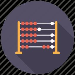 abacus, calculating, college, education, mathematics, school icon