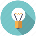 college, creativity, education, idea, knowledge, light bulb, school icon