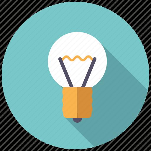 college, creativity, education, idea, knowledge, light bulb, school icon