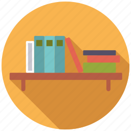 book, bookshelf, college, education, learning, school, university icon