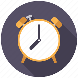 alarm clock, college, education, school, time, timer icon