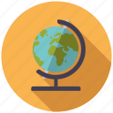 class, college, education, geography, globe, school, world icon