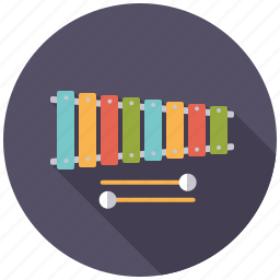 college, education, instrument, lessons, music, school, xylophone icon