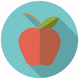 apple, college, education, food, fruit, healthy eating, school icon