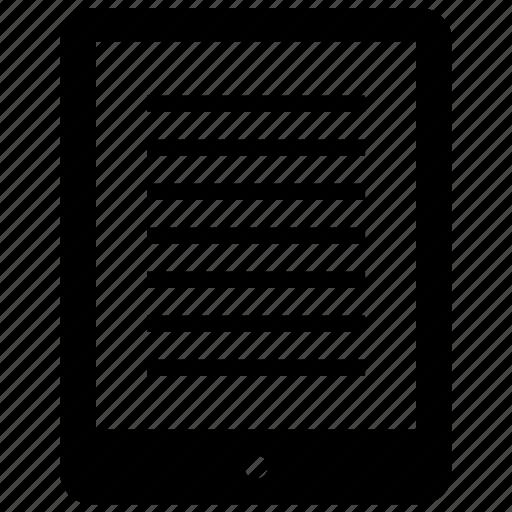 ipad, learn, pad, tablet icon