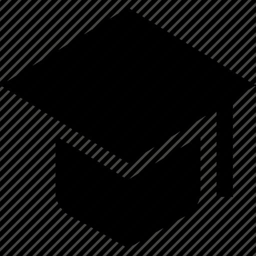 cap, graduation, learning icon