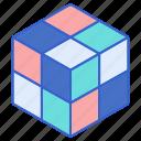 block, rubics, puzzle, 2x2x2