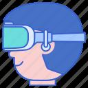 ar, headset, virtual reality, vr icon