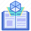 ar, book, education, learning icon