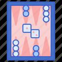 backgammon, board, game