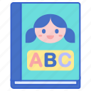 alphabet, book, children, education, learning