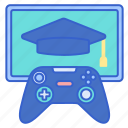education, game, gaming, learning icon