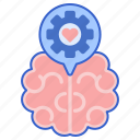 brain, emotion, intelligence, love icon