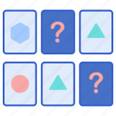 game, memory, play, shapes icon
