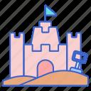 building, castle, construction, sand