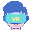 game, gaming, glasses, vr icon