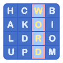 game, puzzle, word, words icon